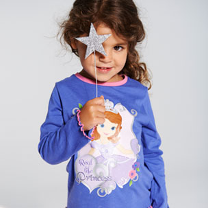 Girls Sofia Pyjamas (18M-5YRS)
