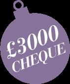 £3000 Cheque