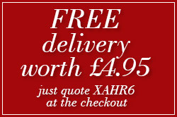 FREE delivery worth £4.95 just quote XAHR6 at the checkout