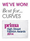 We've won! Best for... Curves. Prima High Street Fashion Awards 2014