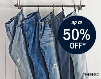 Jeans! up to 50% Off!