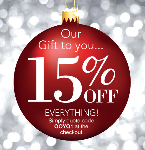 Our Gift to you - 15% OFF Everything >