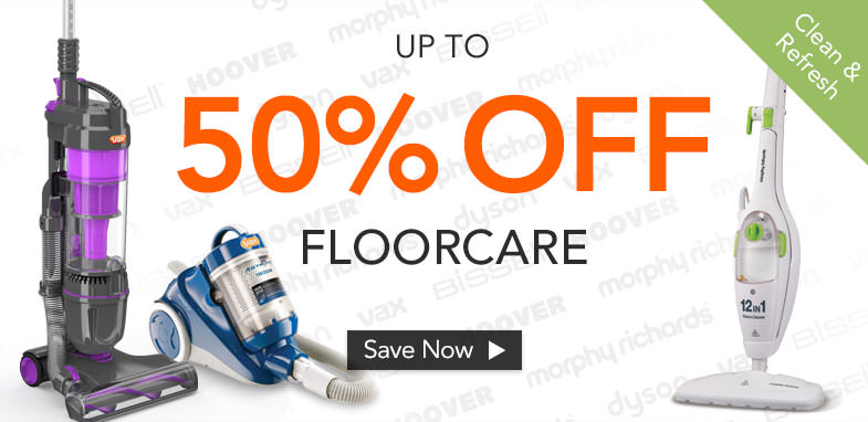 Up to 50% off Floorcare