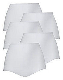 5 Pack Everyday White Shorts