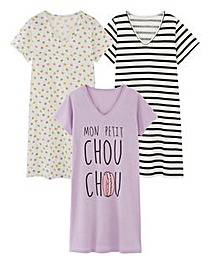 Pretty Secrets 3 Pack Nighties 36in