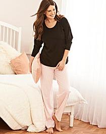 Pretty Secrets 3/4 Sleeve Pink PyjamaSet