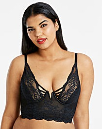 Simply Be Lauren Lace Plunge Midi Bra