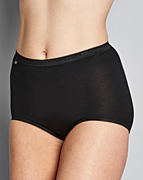 Sloggi 6Pack Maxi Briefs, Blk,Wht or Skn