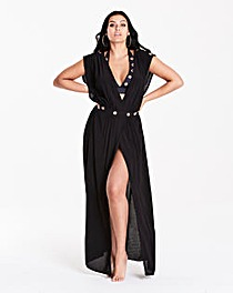 Figleaves Eyelet Detail Maxi Coverup