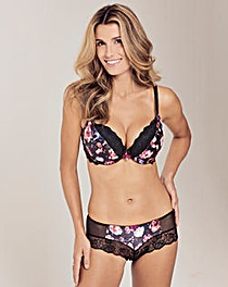 Gossard Padded Plunge Dark Rose Bra