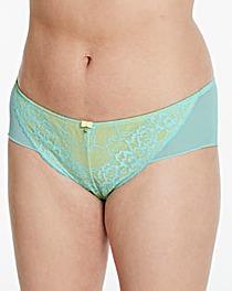 Ann Summers Lace 2 Shorts Mint/Lemon