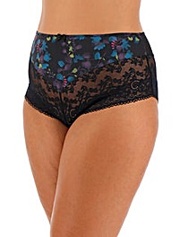 Panache Amelie Black Floral Deep Brief
