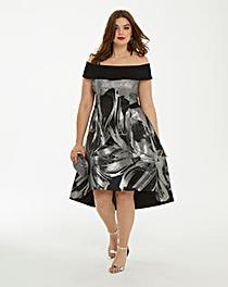 Coast Echo Jacquard Full Midi Dress