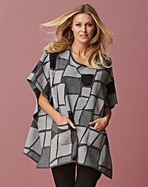 Eden Rock Knitted Abstract Poncho