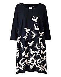 Junarose Bird Print Dress