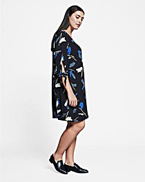 I.Scenery V Neck Printed Dress