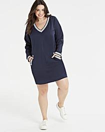 Junarose Contrast Stripe Sports Dress