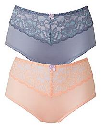 2 Pack Peach/Blue Shorts
