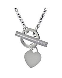 9Ct Gold Plain Heart Tbar Necklace