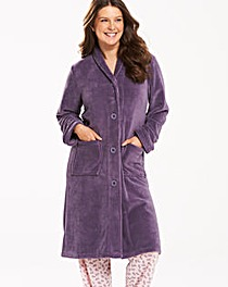 Pretty Secrets Button Fleece Gown L42