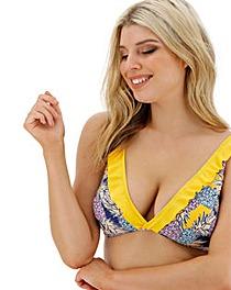 Ruffle Front Bikini Top