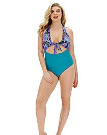 Tie Front Cut Out Swimsuit