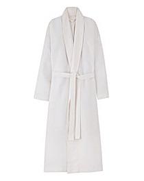 Pretty Secrets Cotton White Waffle Gown