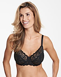 Ivy Lace Full Cup Value Black Bra