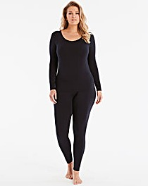 Modal Long Sleeve Black Top