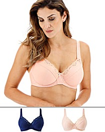 2Pack Sarah Full Cup Wired Bras