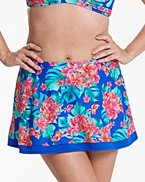 Beach to Beach Tropical Bikini Skort