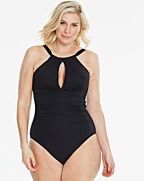 Magisculpt Black High-Neck Swimsuit