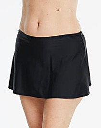 Beach to Beach Black Bikini Skort