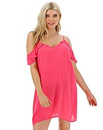 Cold Shoulder Beach Dress