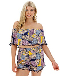 Pineapple Print Bardot Co-ord