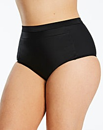 Black High Waist Bikini Bottoms