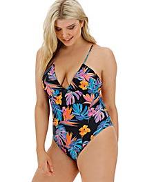V Neck Cross Back Swimsuit