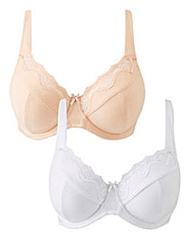 2 Pack Sarah Full Cup Wired Bras