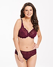 Playtex Flower Lace Wired Wine Bra