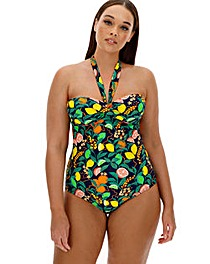 Twist Front Halterneck Swimsuit