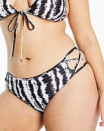 Strap Back Halterneck Bikini Bottom