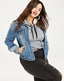 Mid Blue Western Style Denim Jacket