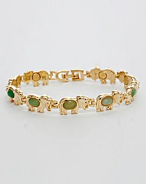 Gold Plated Elephant Magnetic Bracelet