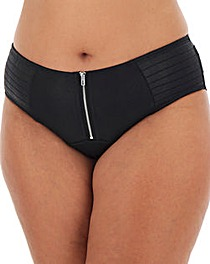 Simply Be Leather Look Brazilian Brief