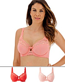 2Pack Lottie Lace Full Cup Wired Bras