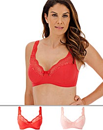 2Pack Lottie Lace Non Wired Bras