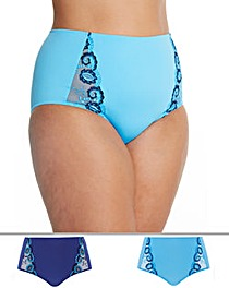 2Pk Joanna Embroidered Full Fit Briefs