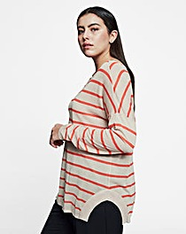 I.Scenery Soft Knit Stripe Pullover