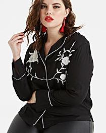 Koovs Embroidered Blouse