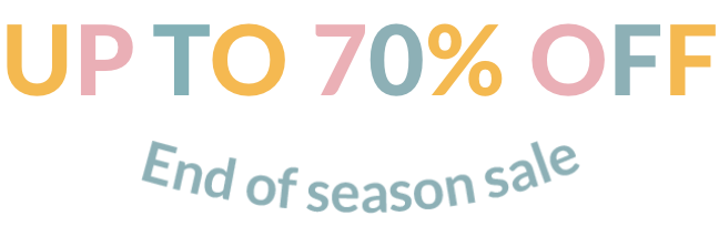 Up to 70% off - End of season sale